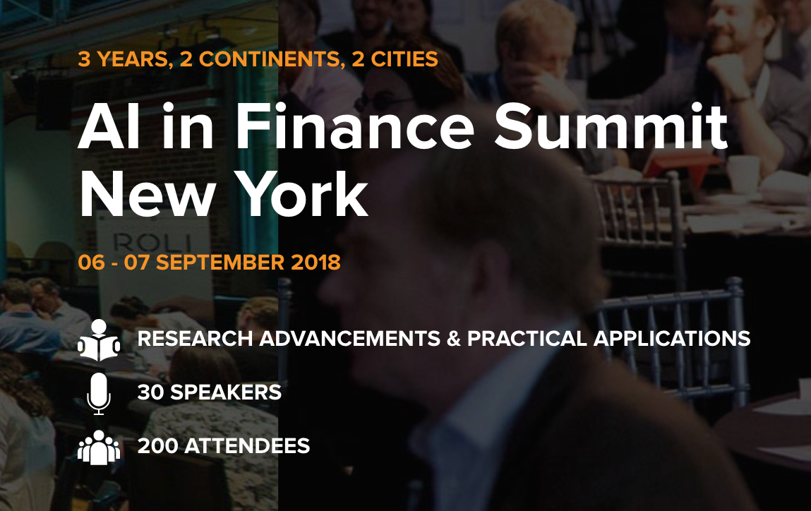 FinBrain Technologies will participate in AI in Finance Summit New York